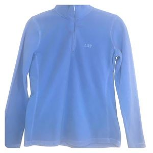 Gap Women's Blue Half Zip Sweater